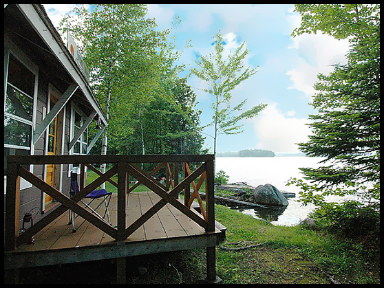 cathance lake maine lake front cottage rental canoe base camp